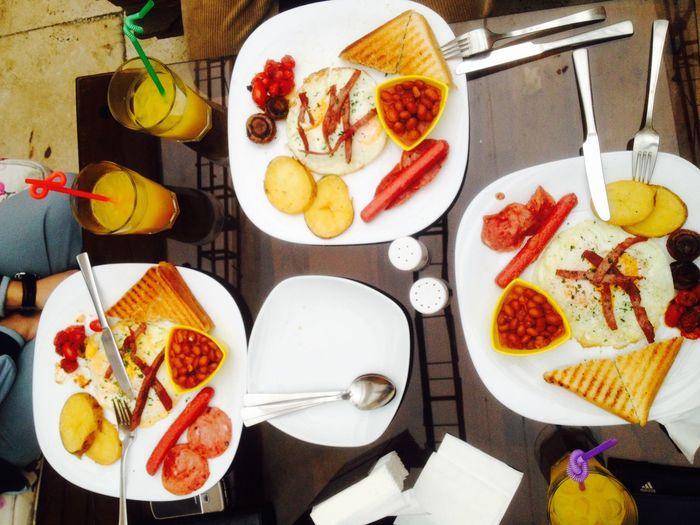 Goodmorning Breakfast With Bestfriend Omlette Potato Mashrooms Orange Juice  Hanging Out Coffee Cinama