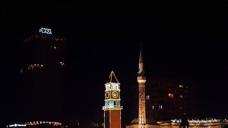city clock Night City Travel Destinations Cityscape Architecture Clock Tower Outdoors Urban Skyline