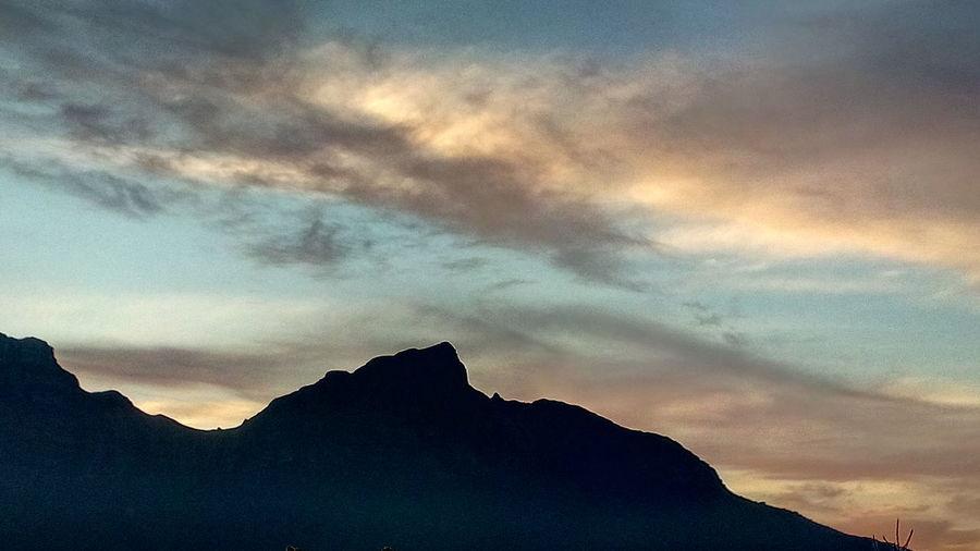 Mountain Sunset Silhouette Dramatic Sky Sky Landscape Cloud - Sky Mountain Range