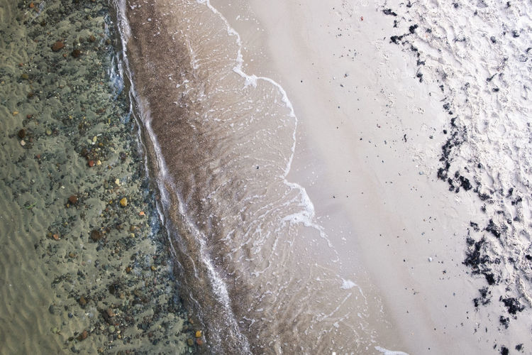 Water High Angle View No People Nature Beach Day Land Sea Motion Outdoors Sport Sand Close-up Wet Beauty In Nature Reaching Cold Temperature Pollution Flowing Water