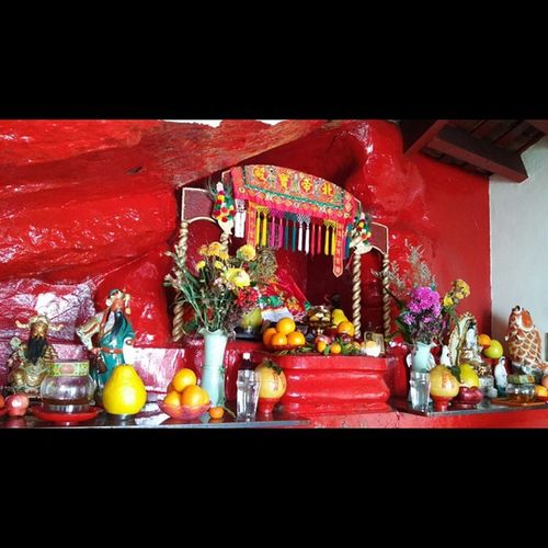 Inside Paktaitemple in Stanley , HongKong . This Temple was carved into the Cliff back in 1805 by the Fishermen that lived in Stanley. Pak Tai is the Supreme Ruler of the Dark Heaven.
