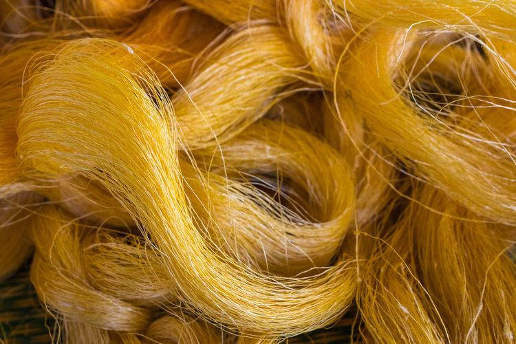 Gold Backgrounds Brocade Close-up Day Fiber Full Frame Indoors  Nature No People Silk Silk Clothes Yellow