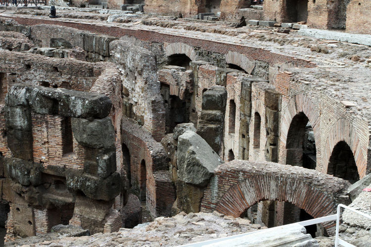 Ancient Ancient Civilization Archaeology Architecture Art And Craft Building Building Exterior Built Structure Colosseum Day History No People Old Old Ruin Outdoors Representation Ruined Solid Stone Wall The Past Tourism Travel Travel Destinations Weathered