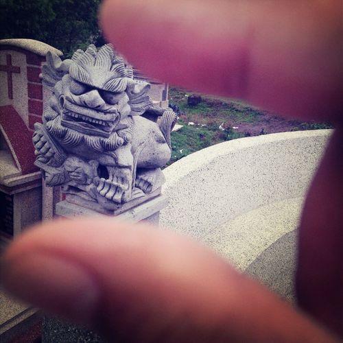 Sculpture Kediri Lions