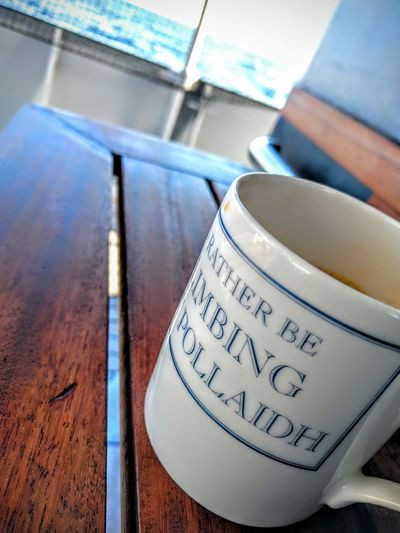 Text No People Close-up Day Finding New Frontiers Outdoors Coffee Cup Boat Leisure Tall Ship Wylde Swan