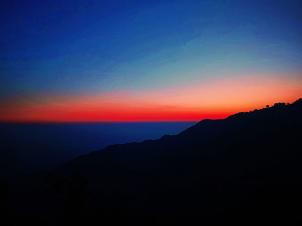 Winter line 😍😍😍 Sky Winterline Mussoorie Sunset Mountain No People Beauty In Nature Outdoors Clear Sky Multi Colored