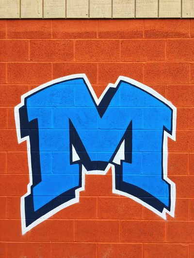 ✨Ⓜ️✨ Letter M Tadaa Community M Communication Sign Blue Wall - Building Feature No People Day Symbol Brick Wall Wall