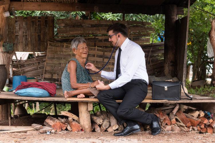 Doctor Examining Senior Woman