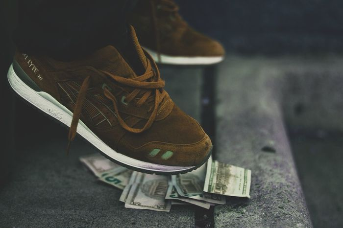 Asics Asicsgelltye Close-up Day Focus On Foreground Footwear Life Life In Colors Lifeisgood Lifestyle Lifestyles Money Outdoors Pair Photo Photographer Photography Shoes Sneakers