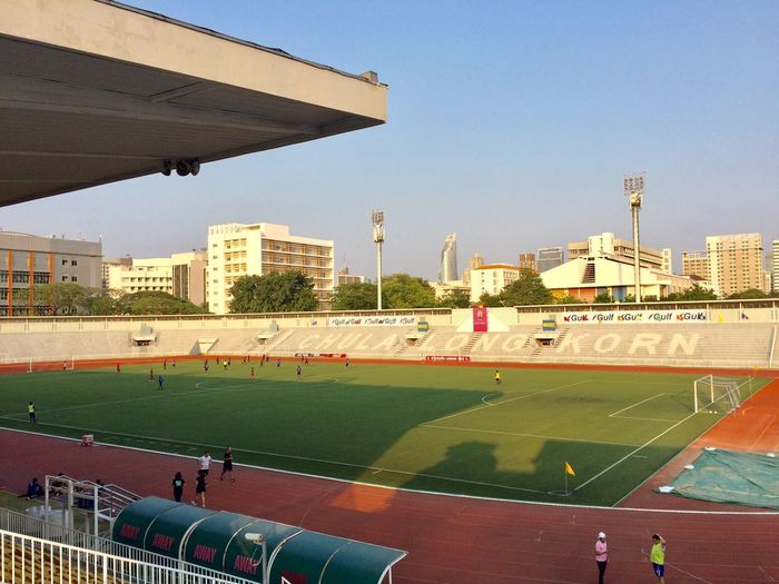 Stadium Soccer Field Building Exterior Architecture Built Structure Sky City Sport Nature Group Of People Clear Sky Day Large Group Of People Crowd Real People Team Sport Outdoors Men Sunlight Building
