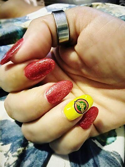 Human Body Part Nail Polish Beauty Nails Nail Art Naildesign Wonder Woman Wonder Woman Nail Art