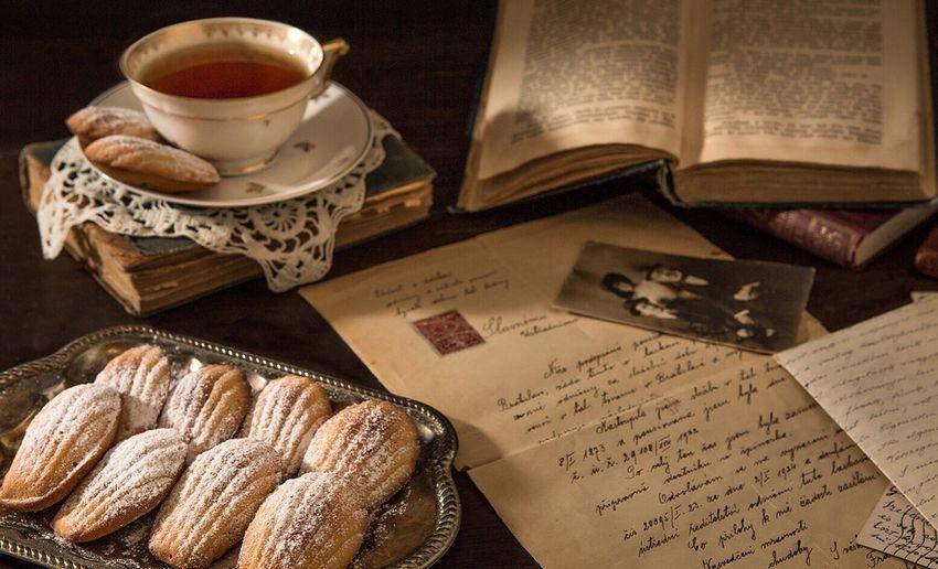 Still Life Photography Vintage Space Dessert Tea Letter Handwritten Table Moody