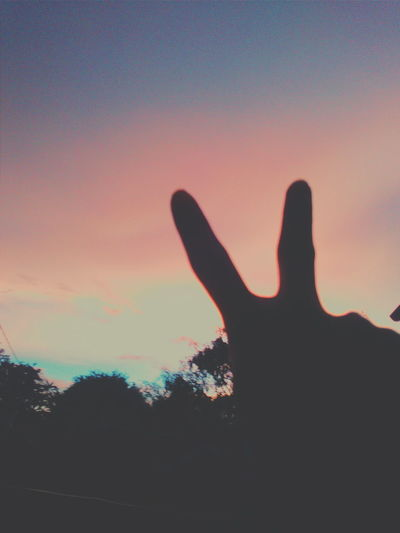 Silhouette Human Hand Sunset Sky Human Body Part Nature One Person Adults Only Beauty In Nature Scenics Astronomy Galaxy Multi Colored TurnUpTheBrightness Eyem Best Shots VSCOPH Vscocam EyeEm Best Shots EyeEmNewHere EyeEm Nature Lover Perspectives On Nature Be. Ready. Rethink Things Nature Silhouette Tranquility Photography