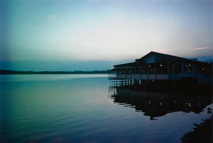 Architecture Beauty In Nature Building Exterior Built Structure Clear Sky Day Expired Expired Film Film House Lake Nature No People Outdoors Reflection Scenics Silhouette Sky Stilt House Tranquil Scene Tranquility Water Waterfront The Great Outdoors - 2017 EyeEm Awards EyeEm Selects