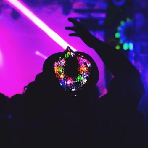 Indoors  Multi Colored Night Celebration Illuminated Nightclub Party - Social Event Nightlife Close-up Disco Lights BeardedTheory Festival Rave Fairy Lights