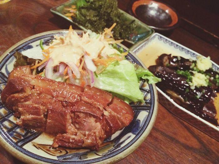 Enjoying A Meal Taking Photos Yammy!!  Okinawa Food