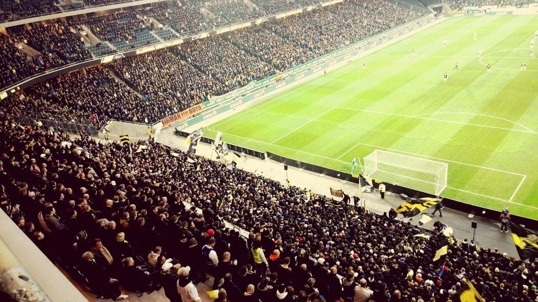 Soccer AIK Fans Derby Stockholm Solna Game