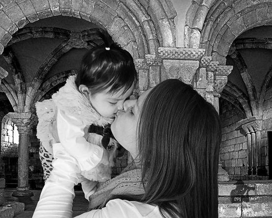 Mother & Daughter Babygirl Blackandwhite Photography Studio Photography
