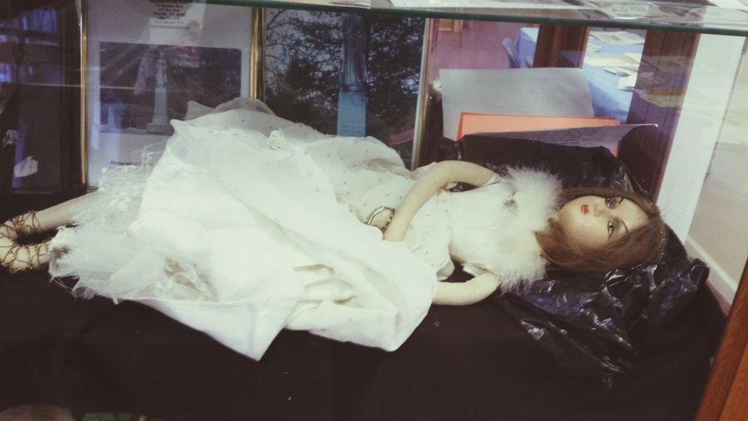 Otavia Hatcher Bourdoir Doll . t the Big Sandy Heritage Museum