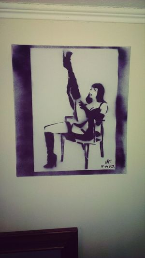stencil by cmpt 'beautiful Betty' Betty Page Artistic Art Stencil Art