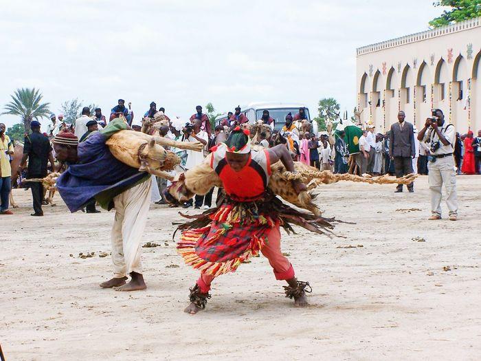 Nigerians Service Animals Heyena Dancers DanceShoot in Abuja, Nigeria, in 2007.