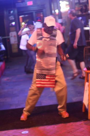 Blurred Motion Casual Clothing City City Life Enjoyment Full Length Illuminated Large Group Of People Leisure Activity Lifestyles Medium Group Of People Men Motion Music New Orelans New Orleans Night NOLA Performance Person Sound Of Life Street Togetherness Walking