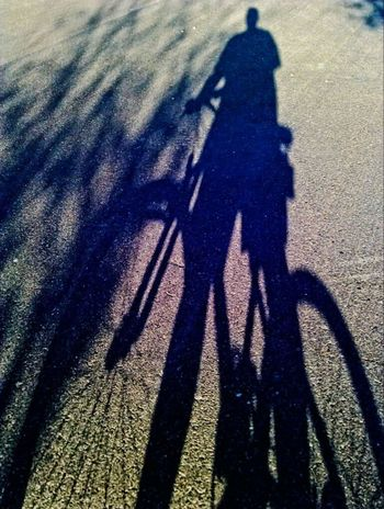 Bicycle Long Shadow - Shadow Focus On Shadow Real People Sunlight Lifestyles Outdoors