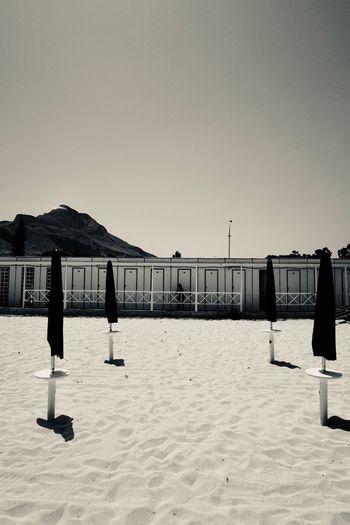 Changing The World Locker San Vito Lo Capo Beach Cabin Clear Sky Mountain Umbrella