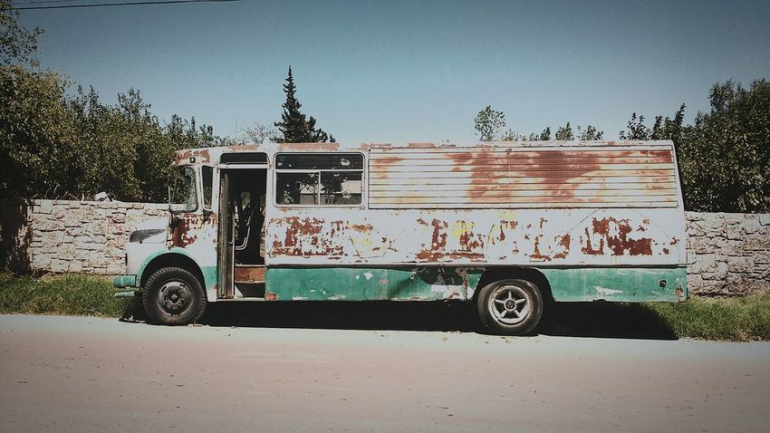 Transportation Outdoors No People Clear Sky Day Motog3photography Bus Abandoned Bus Oblivious  Rust Rust Hystory Long Life Past Time Hard Times