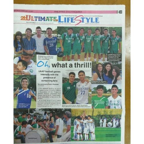 In today's issue of Inquirer by Themanansala . Nine photos chosen by the editor out of 42 submissions. Thanks to the editor L.C. San Juan. Uaap76 Sbspotlight Pdi philippinedailyinquirer football