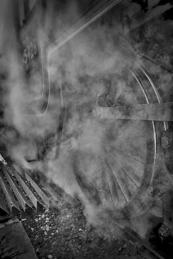 steam in b&w