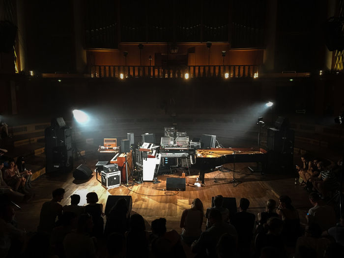 Arts Culture And Entertainment Audience Concert Event Funkhaus Berlin Nalepastrasse Indoors  Indoors  Instrument Instruments Klavier Light Music Music Music Instrument Musical Instrument Night Nils Frahm People Performance Piano Piano Moments Real People Stage - Performance Space