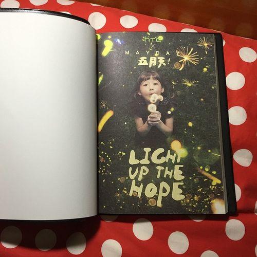 筆記本內頁 Mayday  Taiwan HTC Lightupthehope 五月天 五月天筆記本