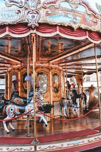 View of carousel in amusement park