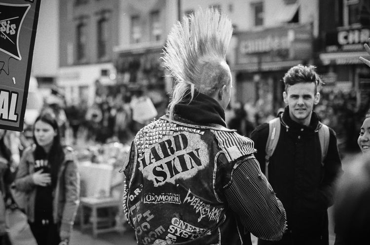 HARD SKIN Mohawk Punk Rock Adult Adults Only Architecture Building Exterior City Day Edgy Focus On Foreground Large Group Of People Leisure Activity Lifestyles Men Mowhawk Outdoors People Protestor Punk Punkrock Real People Rebel Street Togetherness Women