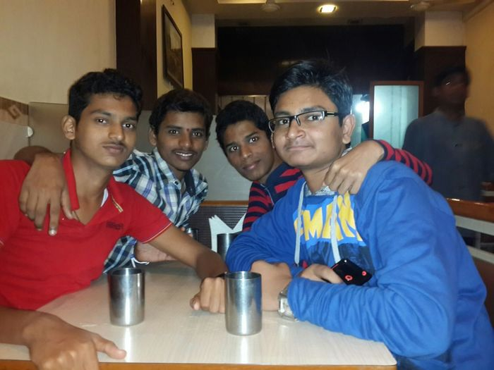 Enjoying with friends