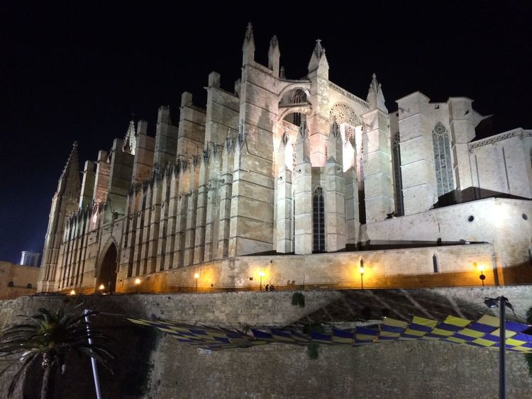 Catedral de Palma Architecture Illuminated Night Place Of Worship Religion