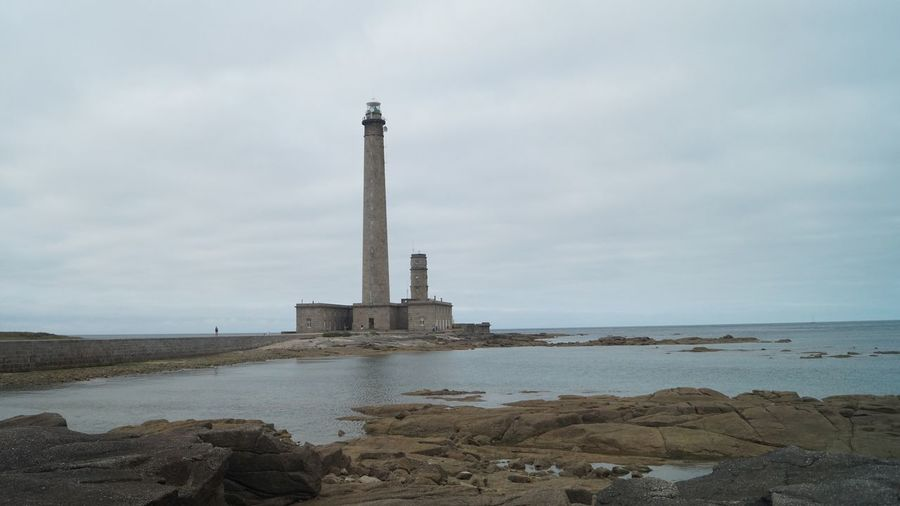 Calm Lighthouse Loneliness Architecture Building Building Exterior Built Structure Cloud - Sky Gatteville Guidance History Horizon Horizon Over Water Land Lighthouse Lonley Nature No People Outdoors Sea Sky The Past Tower Travel Destinations Water