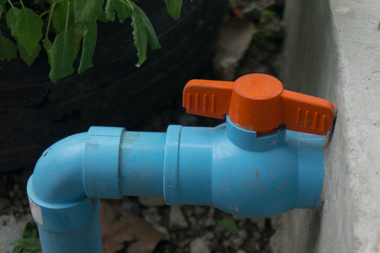 Valve Blue Fresh No People Pipe - Tube Plastic Protection Safety Water Wet