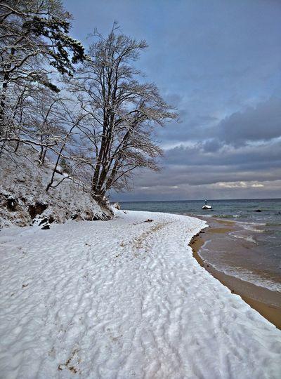 Mal kurz zur Ostsee SellinShort Trip to Baltic Sea Winter Sea Snow ❄