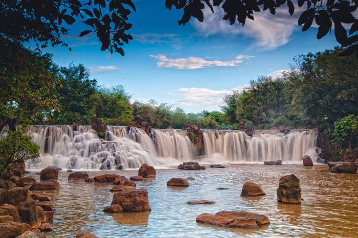 Giang Điền Water Fall Vietnam Beauty In Nature Cloud - Sky Day Flowing Water Growth Hot Spring Long Exposure Motion Nature No People Outdoors Park Rock - Object Scenics Sky Tree Water Waterfall đồng Nai