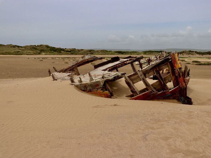 Wreck Landscape Sand Transportation No People Beach Tranquility Nautical Vessel Wreck Beach abandoned