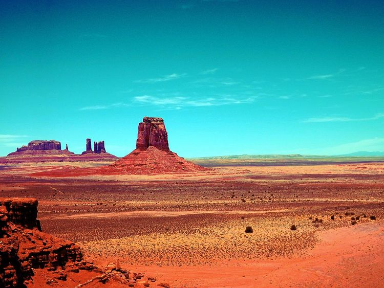 Monument Valley Ancient Civilization Arid Climate Barren Cloud Desert Exploring Geology Horizon Over Land Landscape Monument Valley Nature No People Non-urban Scene Outdoors Physical Geography Postprocessing Remote Scenics Showcase: December Sky Tranquil Scene Tranquility Vignette