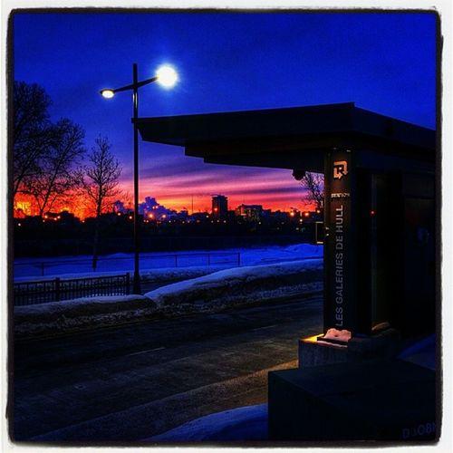 Voir le Soleil en prenant le bus @ 5h45 Casentleprintemps Ilfait -32quandmeme Jaifroidauxmains