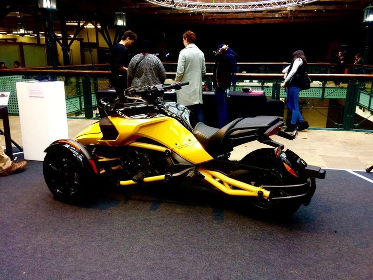WIRED 2016, race motorbike 3 Wheeler Adrenaline Competition Cool Motorcycle Riders Drag Race Hot Ride Motorbike Motors Motorsport Power Racecar Sleek Speed Sports Race Transportation Yellow