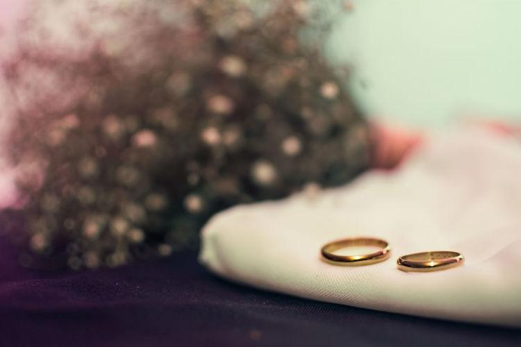 Close Up Wedding Rings