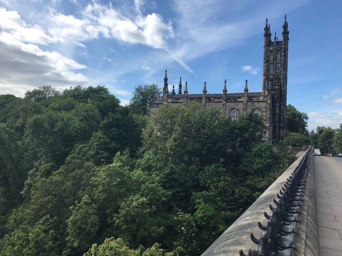 Scotland Edinburgh Sky Architecture Built Structure Plant Tree Cloud - Sky Nature
