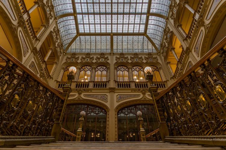 Interior of historic palacio de correos de mexico