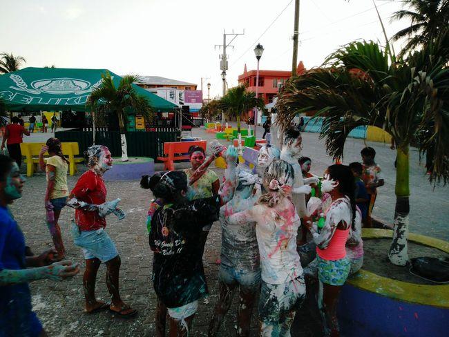 Carnival at San Pedro Belize. Central park kids all painted up. Kids Being Kids Kids Central Park San Pedro Belize Ambergris Caye Central America Colorful Culture