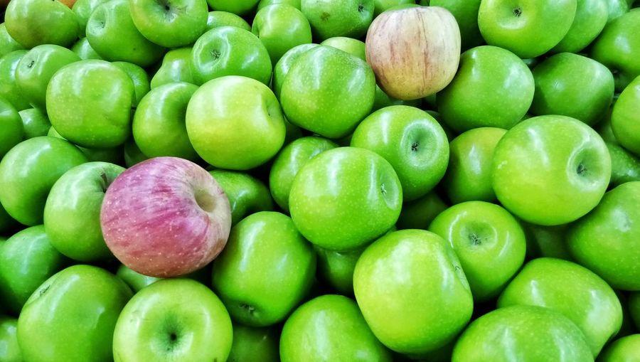 Green apples Market Stall Fruit Large Group Of Objects Abundance No People Close-up Supermarket Day Indoors  Nature